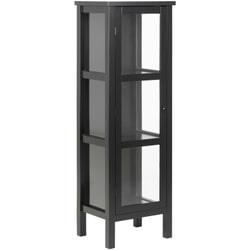 Bendt Vitrinekast 'Yutte' 136 x 46cm, kleur Zwart
