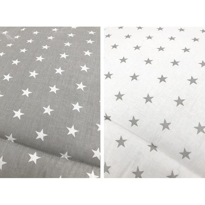 Bopita Boxkleed 'Stars' kleur grijs en wit, 95 x 75cm