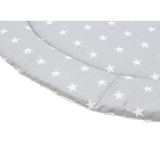 Bopita Boxkleed 'Stars' 95cm, kleur grijs en wit