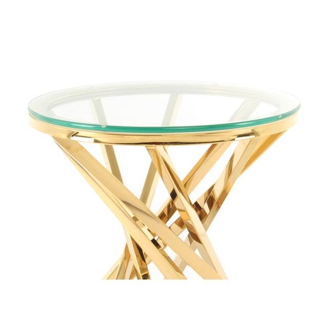 Kayoom Bijzettafel 'Wesley' 40cm, kleur goud