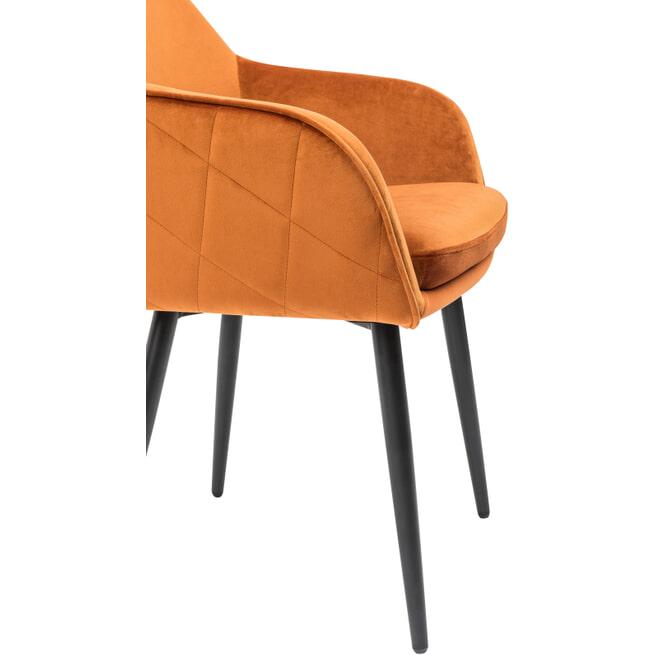 Artistiq Eetkamerstoel 'Charlene', Velvet, kleur Oranje