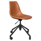 Dutchbone Bureaustoel 'Franky' PU, kleur Bruin