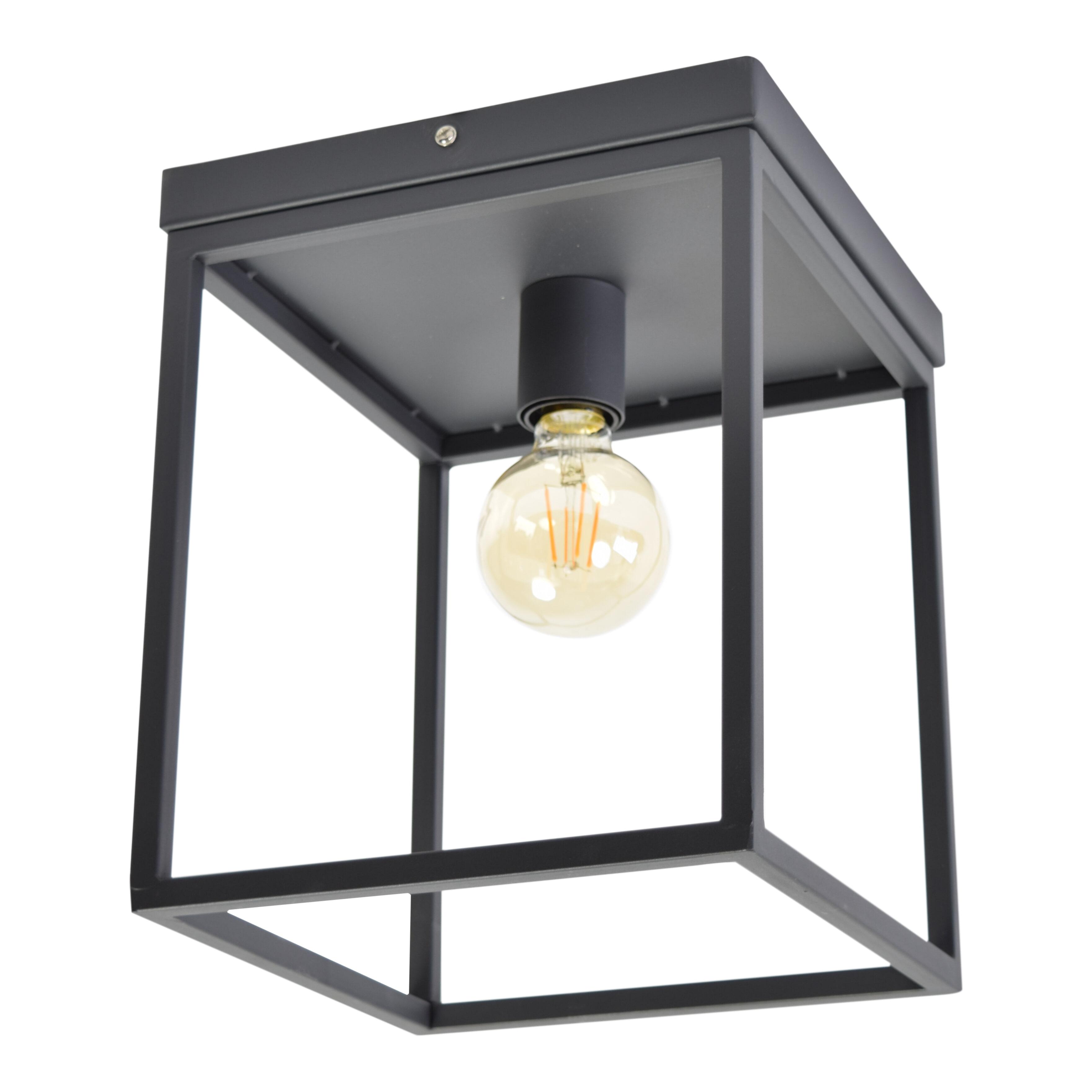 Urban Interiors plafondlamp 'Frame', kleur Zwart Verlichting   Plafondlampen vergelijken doe je het voordeligst hier bij Meubelpartner