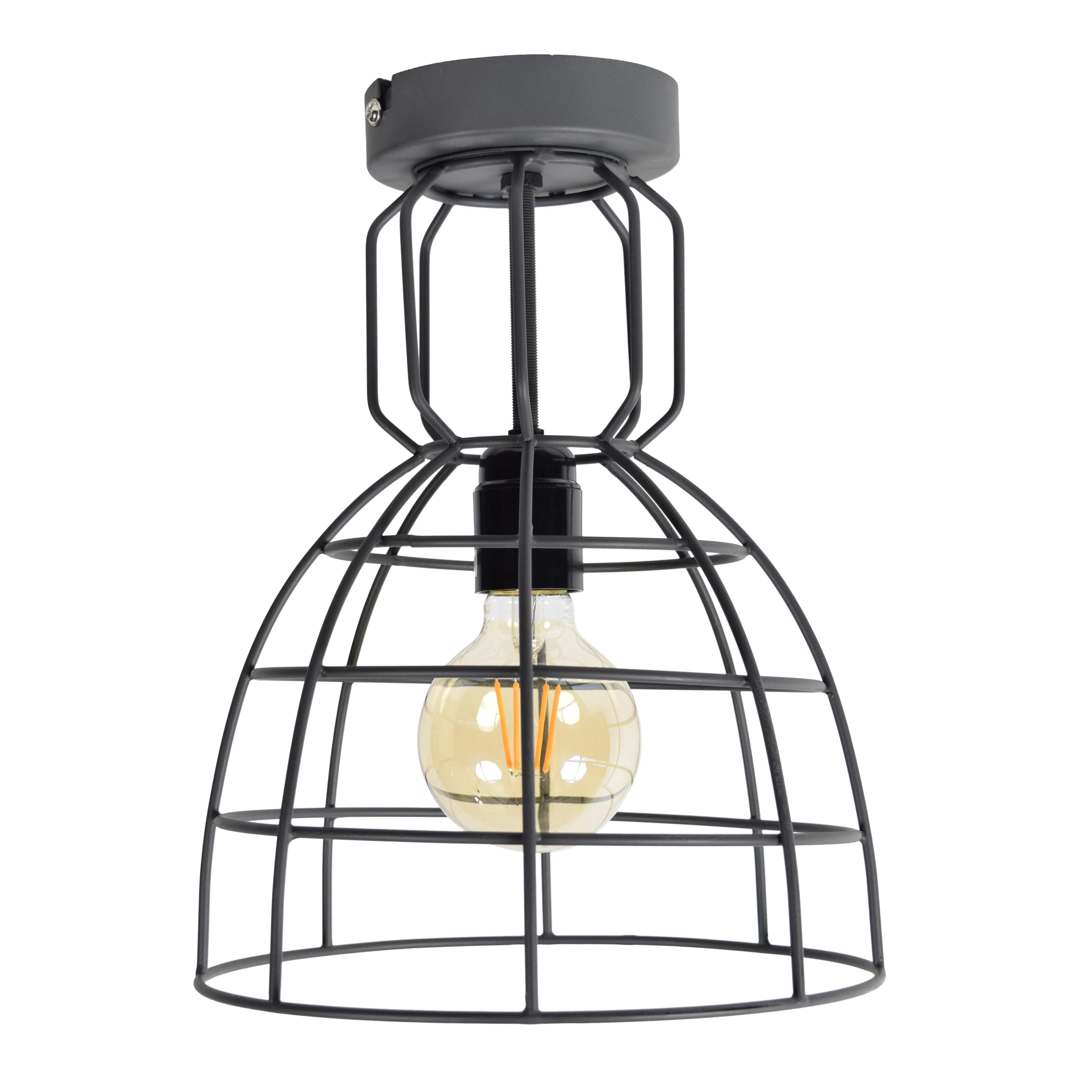 Urban Interiors plafondlamp 'Francis Large' ?24, kleur Zwart Verlichting   Plafondlampen vergelijken doe je het voordeligst hier bij Meubelpartner