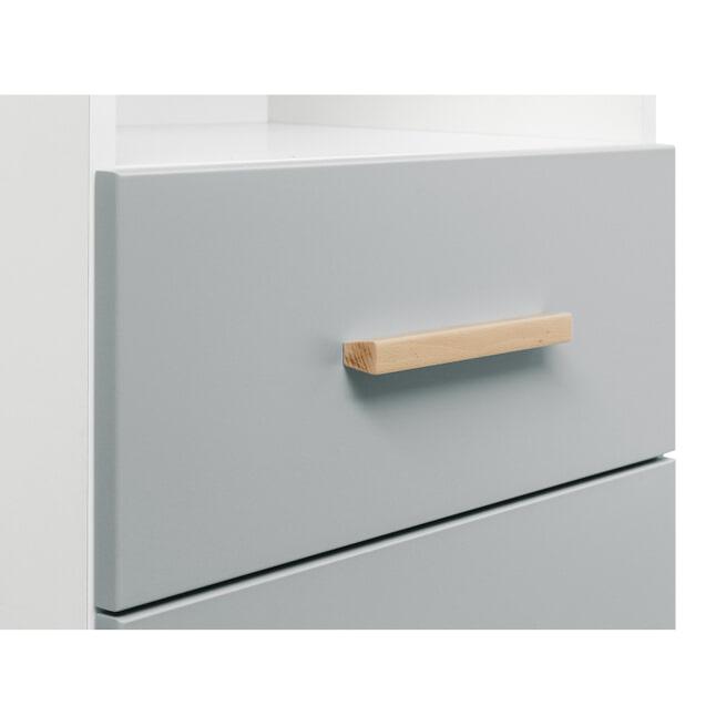 Bopita Boekenkast 'Emma' kleur wit / grijs