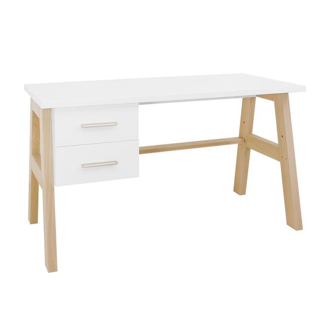 Bopita Bureau 'Lisa' 139 x 62cm, kleur wit / naturel