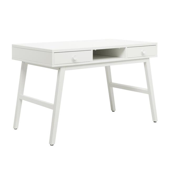 Bopita Bureau 'Retro' 126 x 65cm, kleur wit