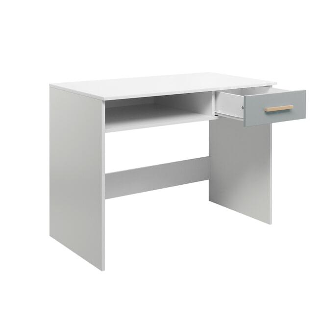 Bopita Bureau 'Emma' 110 x 55cm, kleur wit / grijs
