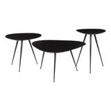 Brix Salontafel 'Loua' Set van 3 stuks, kleur Zwart