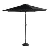 Hartman Parasol 'Sunline' 270cm, kleur Zwart