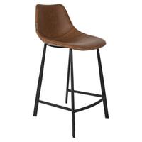 Dutchbone Barkruk 'Franky' PU (zithoogte 65cm), kleur Bruin