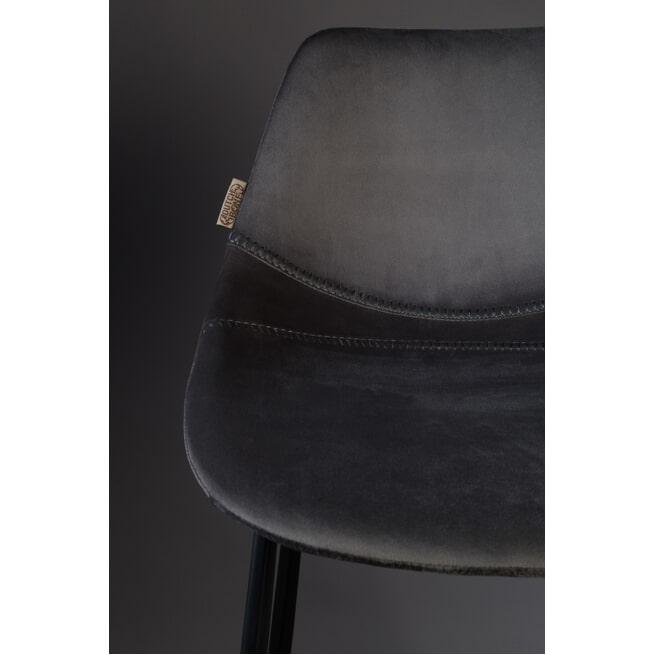 Dutchbone Barkruk 'Franky' Velvet (zithoogte 65cm)