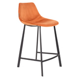 Dutchbone Barkruk 'Franky' Velvet (zithoogte 65cm), kleur Oranje