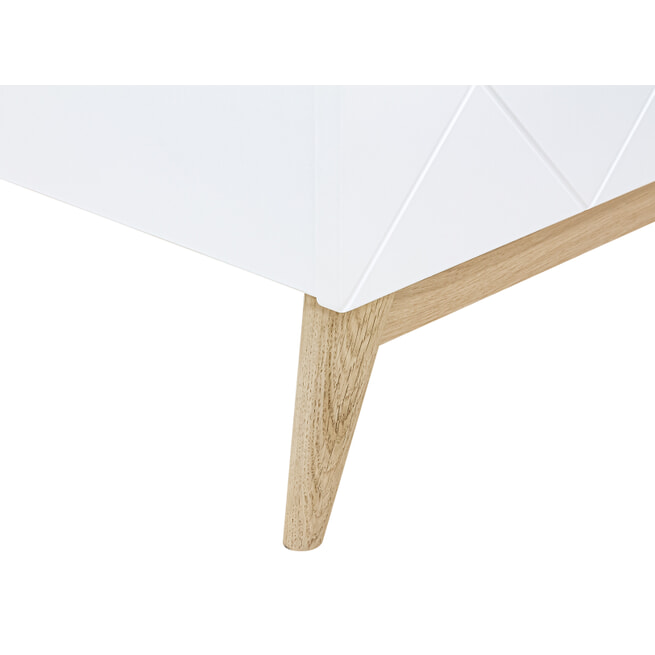 Bopita Bed 'Paris' 90 x 200cm, kleur wit / eiken