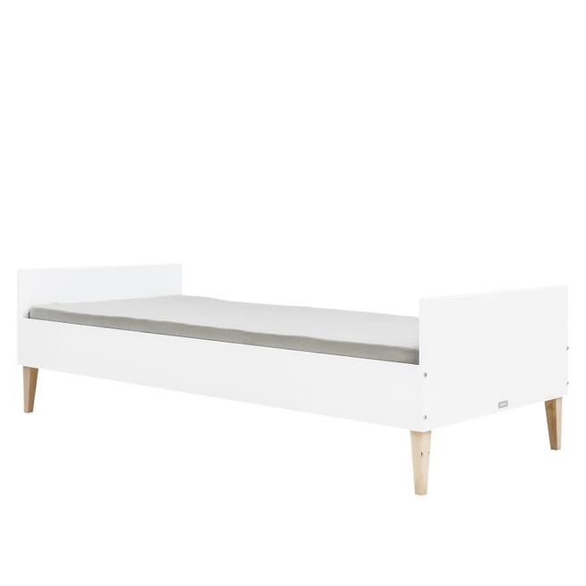 Bopita Bed 'Indy' 90 x 200cm, kleur wit / naturel (excl. lattenbodem)