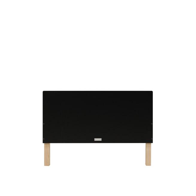 Bopita Bed 'Floris' 90 x 200cm, kleur mat zwart / naturel