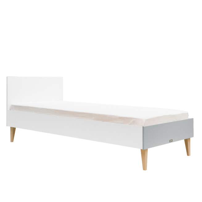 Bopita Bed 'Emma' 90 x 200cm, kleur wit / grijs