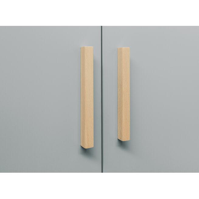 Bopita Kledingkast 'Emma' kleur grijs / wit