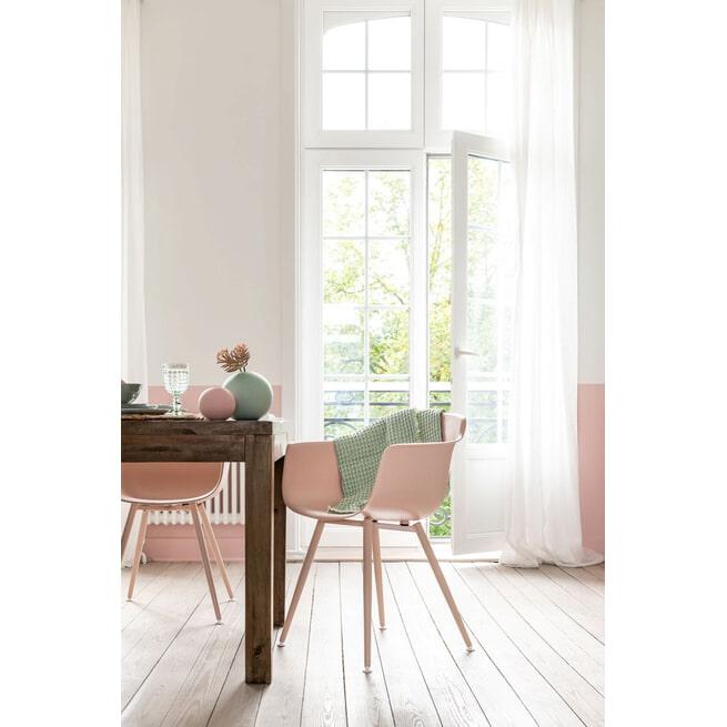 J-Line Eetkamerstoel 'Charlotta' kleur Roze