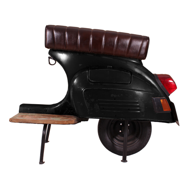 Artistiq Barkruk 'Scooter' kleur zwart