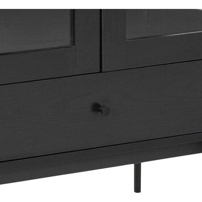 Bendt Vitrinekast 'Mick' 75 x 152cm, kleur Zwart