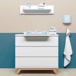 Bopita Commode 'Lynn' kleur wit / naturel