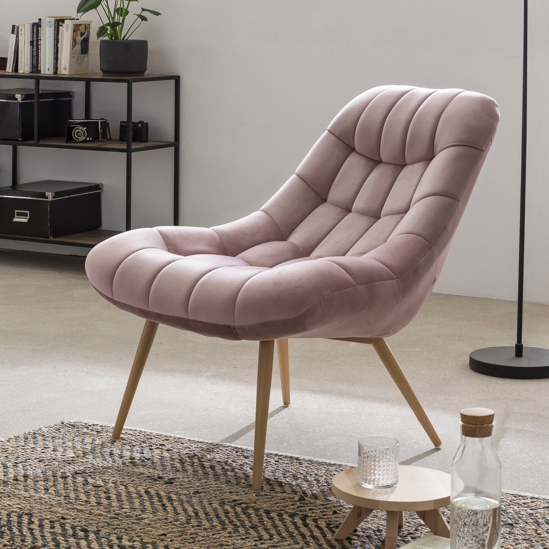 Artistiq Fauteuil 'Jurre' Velvet, kleur Roze