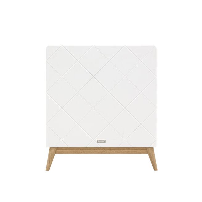 Bopita Meegroeiledikant 'Paris' 70 x 140cm, kleur wit / eiken