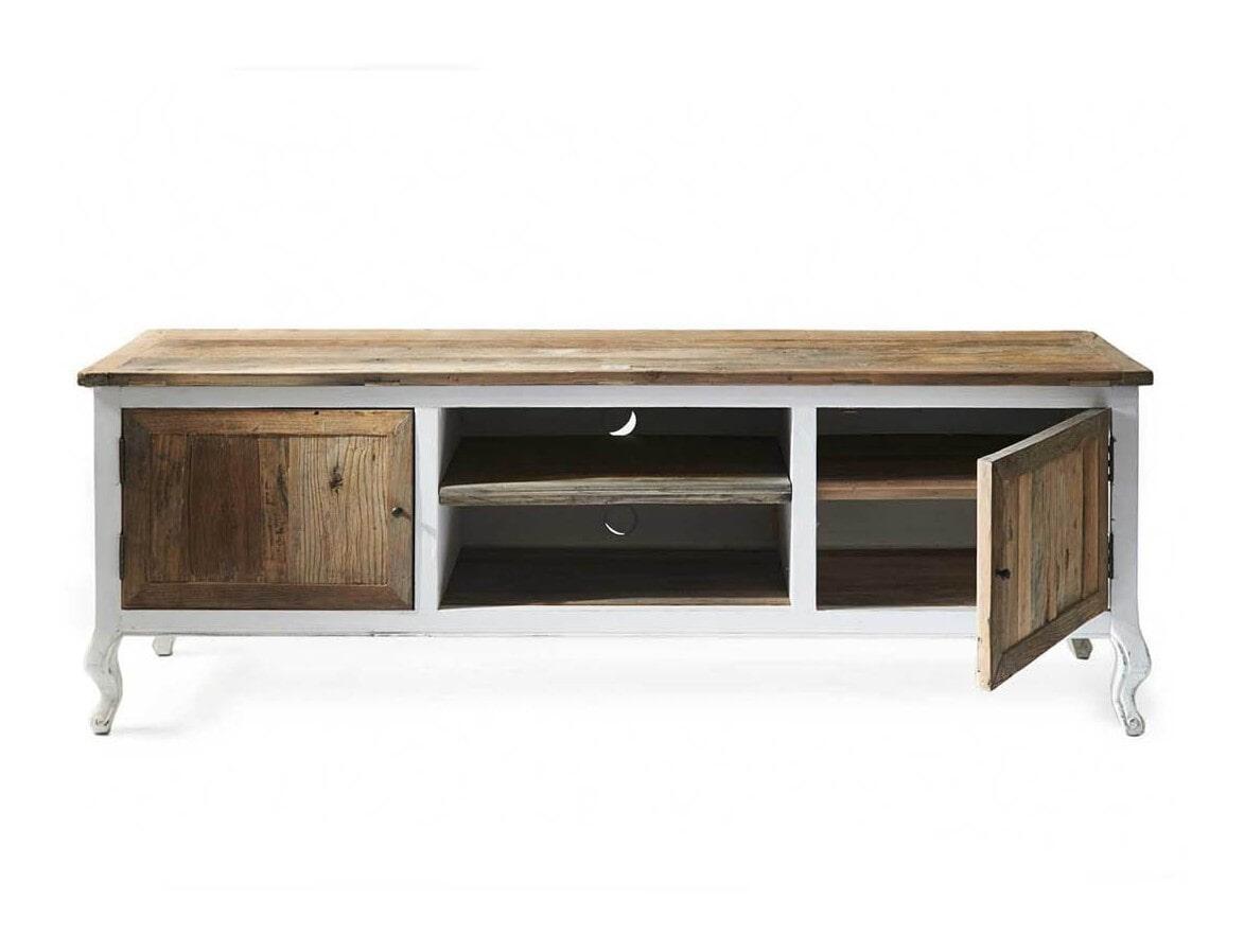 Witte Dressoir Tv Kast.Riviera Maison Tv Meubel Driftwood 180cm Rm 166180 Meubelpartner