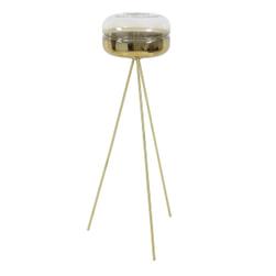 Light & Living Vloerlamp 'Cherle' tripod, glas goud+mat goud