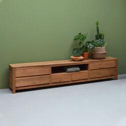 LivingFurn TV-meubel 'Inal' Teak, 240cm
