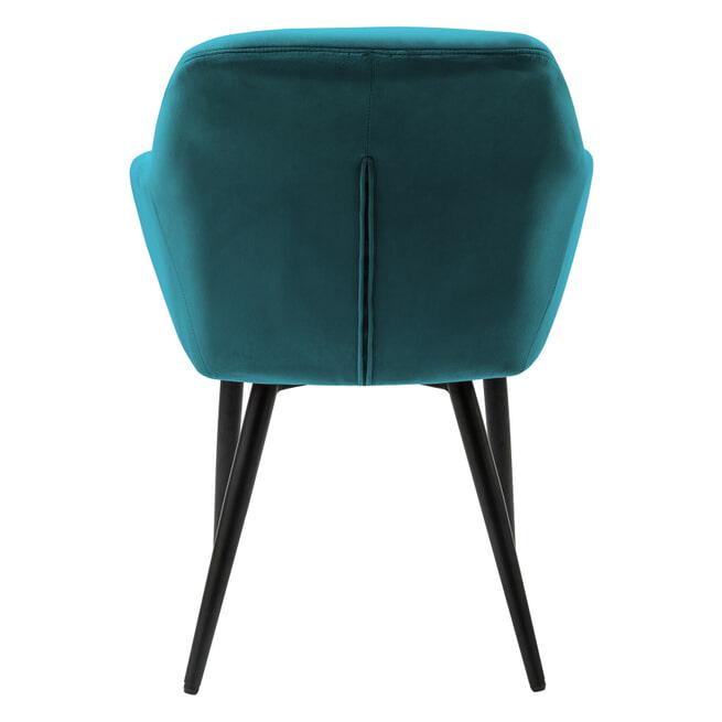Artistiq Fauteuil 'Lois', Velvet, kleur Turquoise