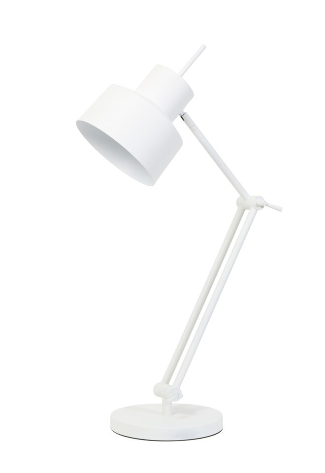 Light & Living Tafellamp 'Wesly', wit