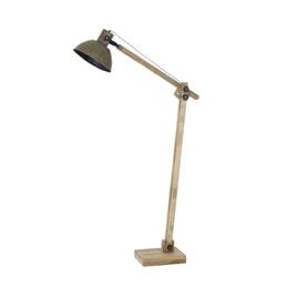 Light & Living Vloerlamp 'Ekerd', hout naturel-antiek groen