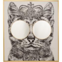 J-Line Wanddecoratie 'Kitty' Met spiegel, 130 x 118cm