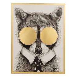 J-Line Wanddecoratie 'Foxy' Met spiegel, 86 x 66cm