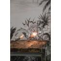 Light & Living Tafellamp 'Joni', glas nikkel
