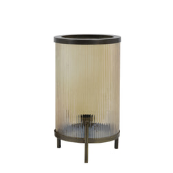 Light & Living Tafellamp 'Tjard', glas goud luster+antiek brons