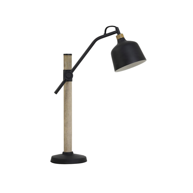 Light & Living Tafellamp 'Banu', hout zwart