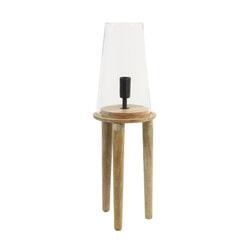 Light & Living Tafellamp 'Novan', glas hout naturel
