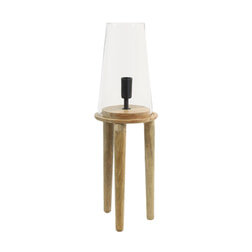 Light & Living Tafellamp 'Novan', glas hout naturel