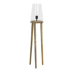 Light & Living Vloerlamp 'Novan', glas hout naturel
