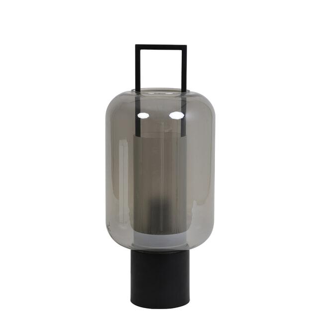 Light & Living Tafellamp 'Arturos' kleur smoked / zwart