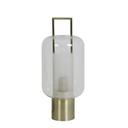 Light & Living Tafellamp 'Arturos', glas helder+brons