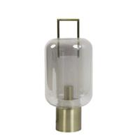 Light & Living Tafellamp 'Arturos', glas smoke+brons