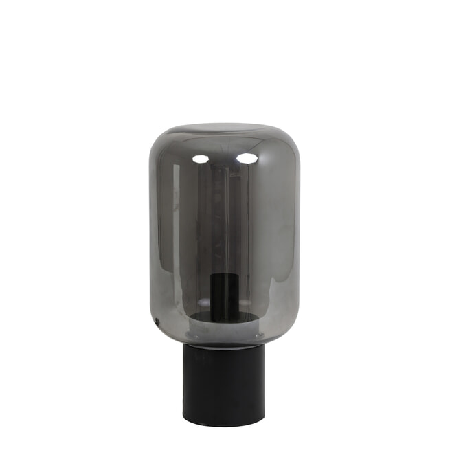 Light & Living Tafellamp 'Arturan' 22cm, kleur Smoked/Grijs