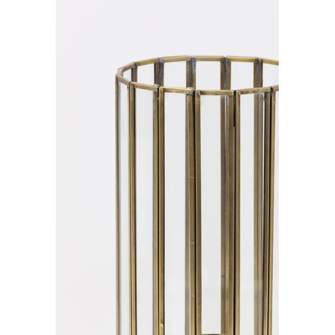 Light & Living Tafellamp 'Strøby' antiek brons+glas