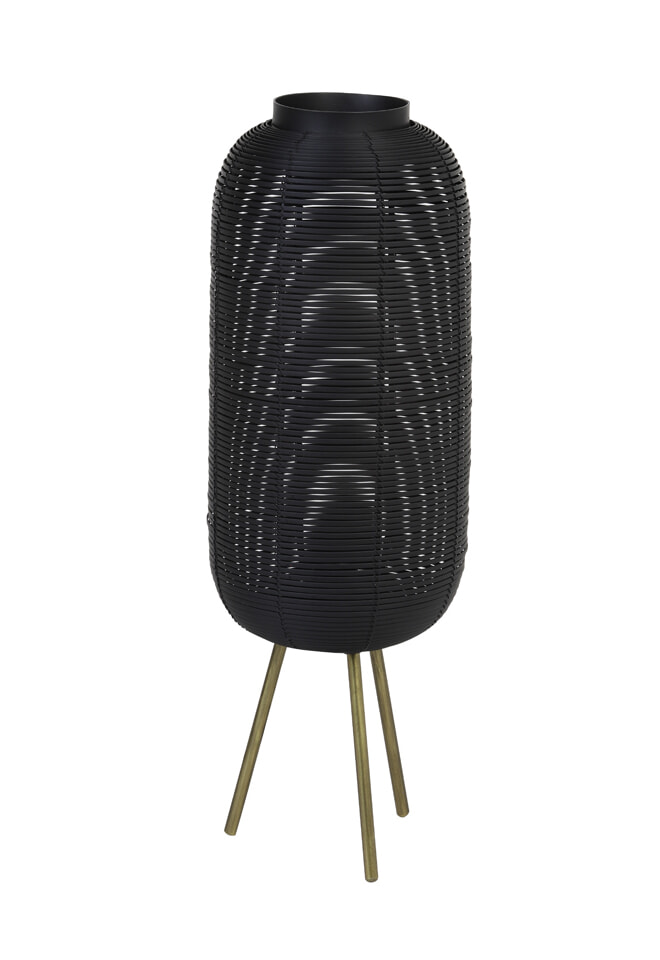 Light & Living Tafellamp 'Tomek', mat zwart