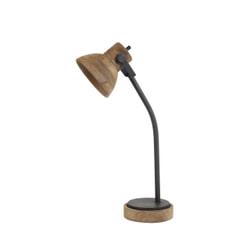Light & Living Bureaulamp 'Imbert', donker bruin-mat zwart