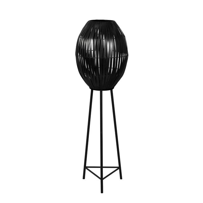 Light & Living Vloerlamp 'Kyomi', mat zwart
